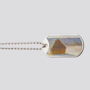 Grainstack by Claude Monet Dog Tags