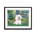 Bridge & Bichon Framed Panel Print