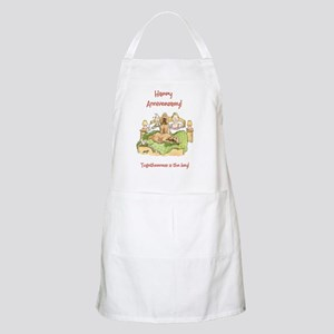 Happy Anniversary - togetherness is the key! Apron