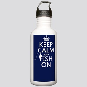 Keep Calm and Fish On Stainless Water Bottle 1.0L