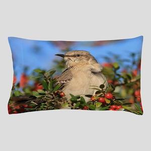 Mockingbird & Yaupon Berries Pillow Case