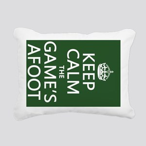 Keep Calm the Game's Afo Rectangular Canvas Pillow