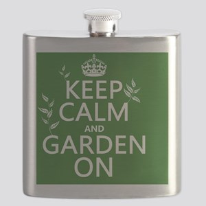Keep Calm and Garden On Flask