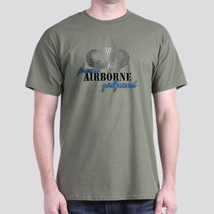 Proud Airborne Girlfriend Dark T-Shirt