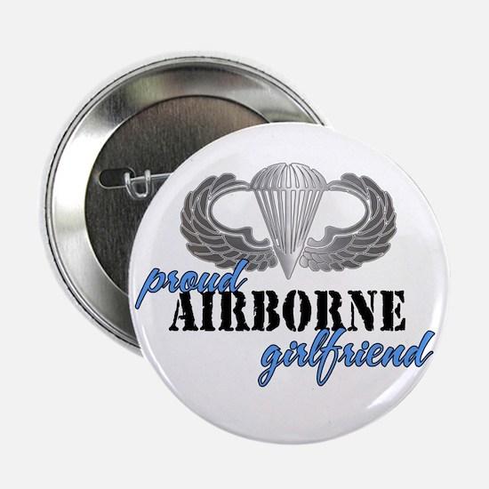 Proud Airborne Girlfriend Button