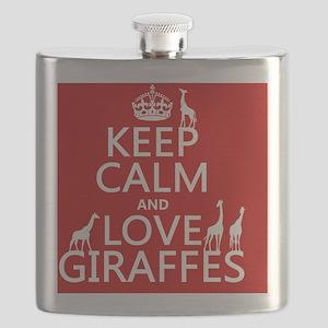 Keep Calm and Love Giraffes Flask