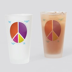 Peace Pie Chart for DARK Drinking Glass