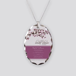 1-bridal-shower_blossom_lilac Necklace Oval Charm
