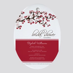1-bridal-shower_blossom_red Oval Ornament