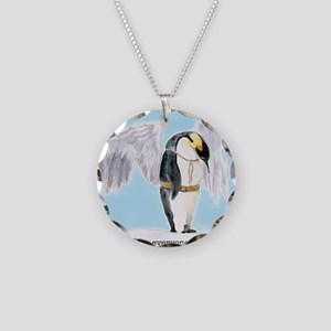 Franklin the Penguin Necklace Circle Charm