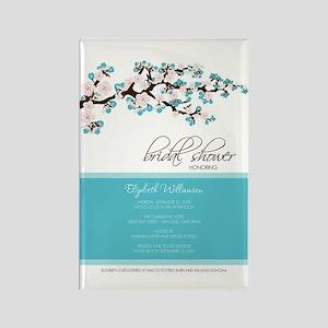 1-bridal-shower_blossom_aqua Rectangle Magnet