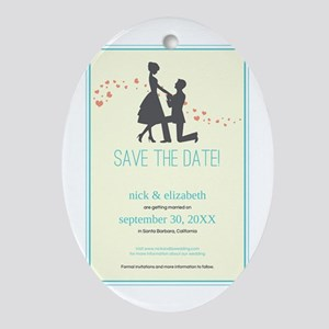 9-silhouette-proposal_aqua Oval Ornament