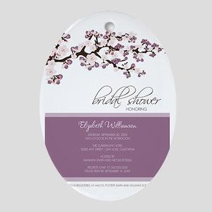 1-bridal-shower_blossom_lavender Oval Ornament