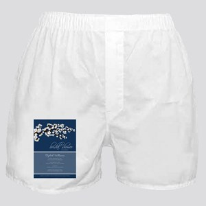 c2c908717ca Underwear   Panties. 2-bridal-shower blossom white navy Boxer Shorts