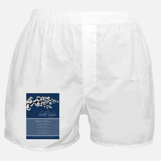 2-bridal-shower_blossom_white_navy Boxer Shorts