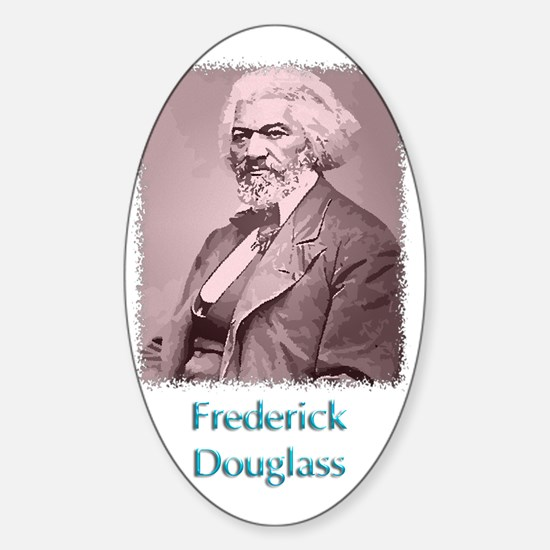 Frederick Douglass w text Sticker (Oval)