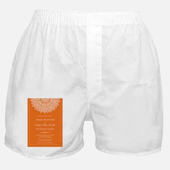 16-lace-doily_orange Boxer Shorts