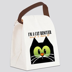 Im a cat rescuer and I love it ne Canvas Lunch Bag