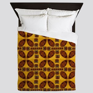 Tiki Shield Window Curtain Queen Duvet