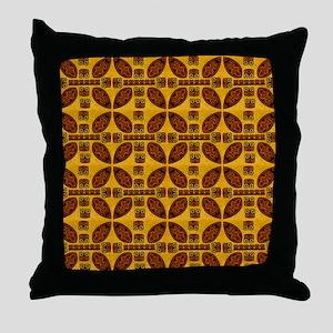 Tiki Shield Window Curtain Throw Pillow