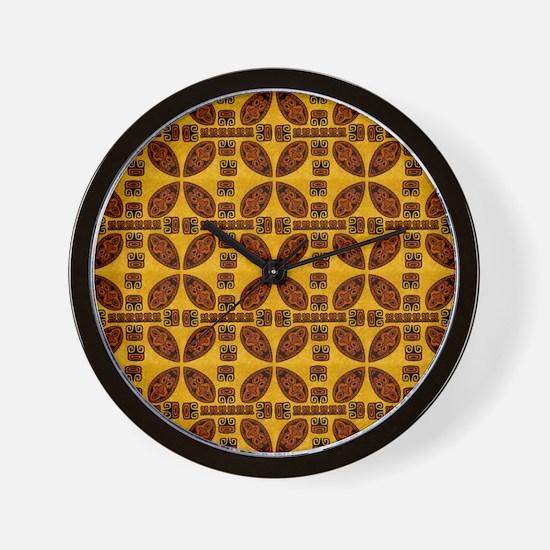 Tiki Shield Window Curtain Wall Clock