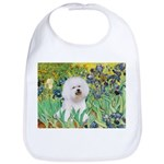 Irises and Bichon Bib