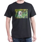 Irises and Bichon Dark T-Shirt