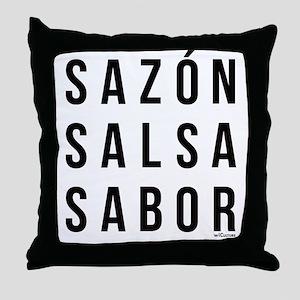 Sazon Salsa Sabor Throw Pillow