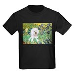 Irises and Bichon Kids Dark T-Shirt