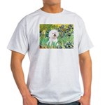 Irises and Bichon Light T-Shirt