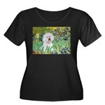 Irises and Bichon Women's Plus Size Scoop Neck Dar