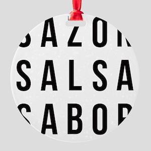Sazon Salsa Sabor Round Ornament