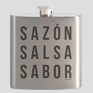 Sazon Salsa Sabor Flask