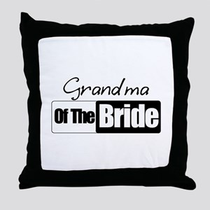 Grandma of the Bride Throw Pillow