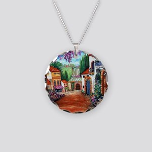 Tuscany Necklace Circle Charm