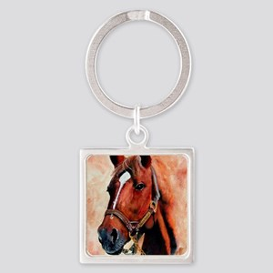 Triple Crown Square Keychain