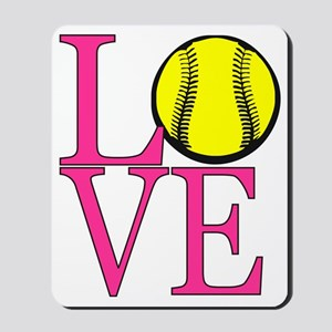 LOVE SOFTBALL Mousepad