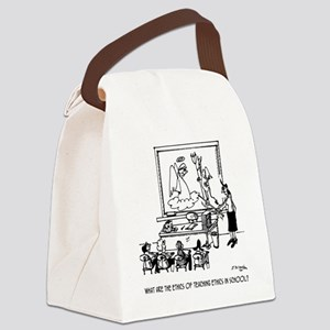 Ethics of Teaching Ethics Canvas Lunch Bag