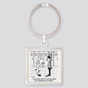 Teaching Without a Contract Square Keychain