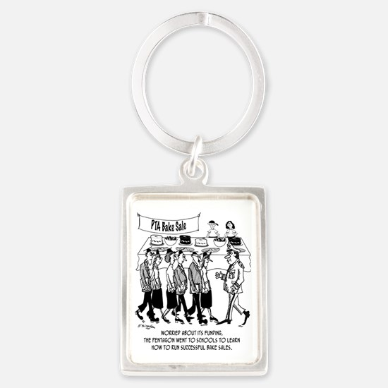 Pentagon Learns How To Run Succe Portrait Keychain