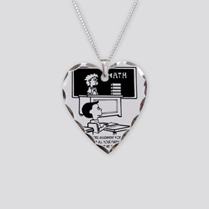 Homework is to Convince Paren Necklace Heart Charm