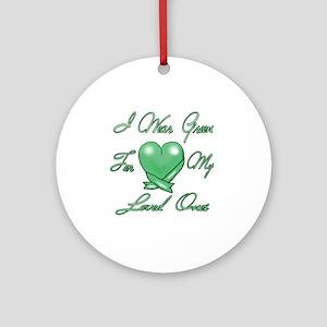 I wear Green Round Ornament