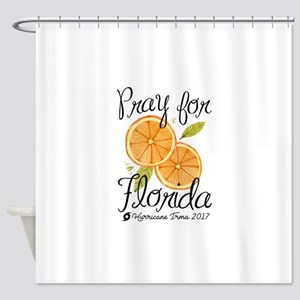 Pray For Florida Shower Curtain