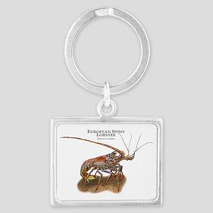 European Spiny Lobster Landscape Keychain