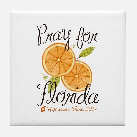 Pray For Florida Tile Coaster