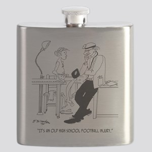 Its an Old Football Injury Flask