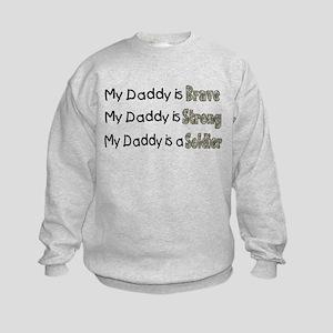 My Daddy is a Soldier Kids Sweatshirt