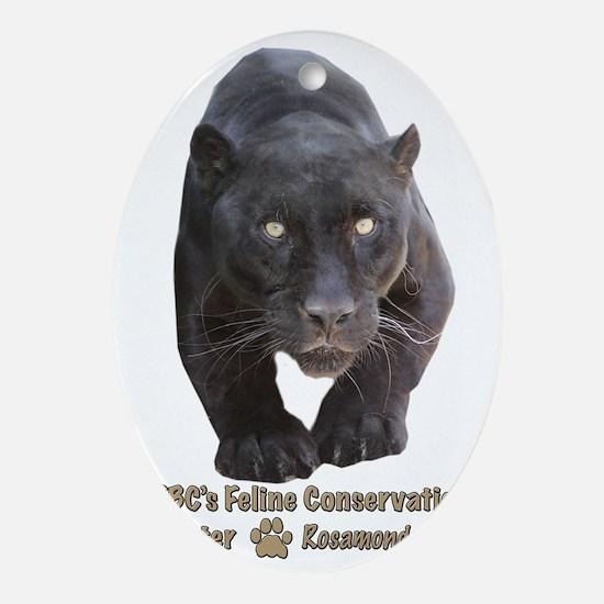 Black Jaguar Oval Ornament