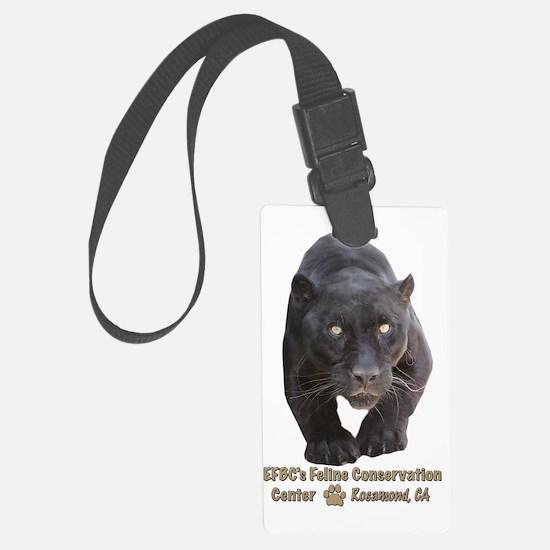 Black Jaguar Luggage Tag