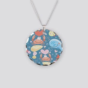Cute Sea Life Necklace Circle Charm